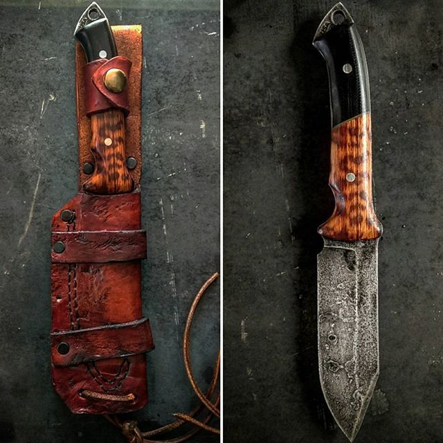 "MANNFALL - SOLD old Norse word for slaughter $329 shipped Message me to purchase S35vn steel Cryo treated 10"" OAL Snake wood / G10 handle"