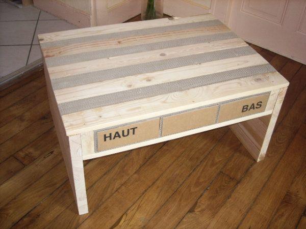 blog de toutencarton toutencarton lampes cadres et meubles tout en carton table basse. Black Bedroom Furniture Sets. Home Design Ideas