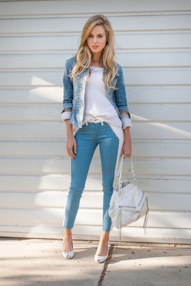 (7 For All Mankind jeans, H&M sweater, Fornarina jacket