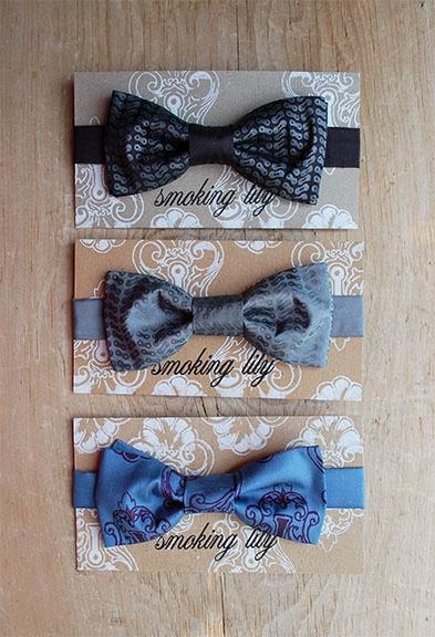 Silk, Smoking Lily bow ties.