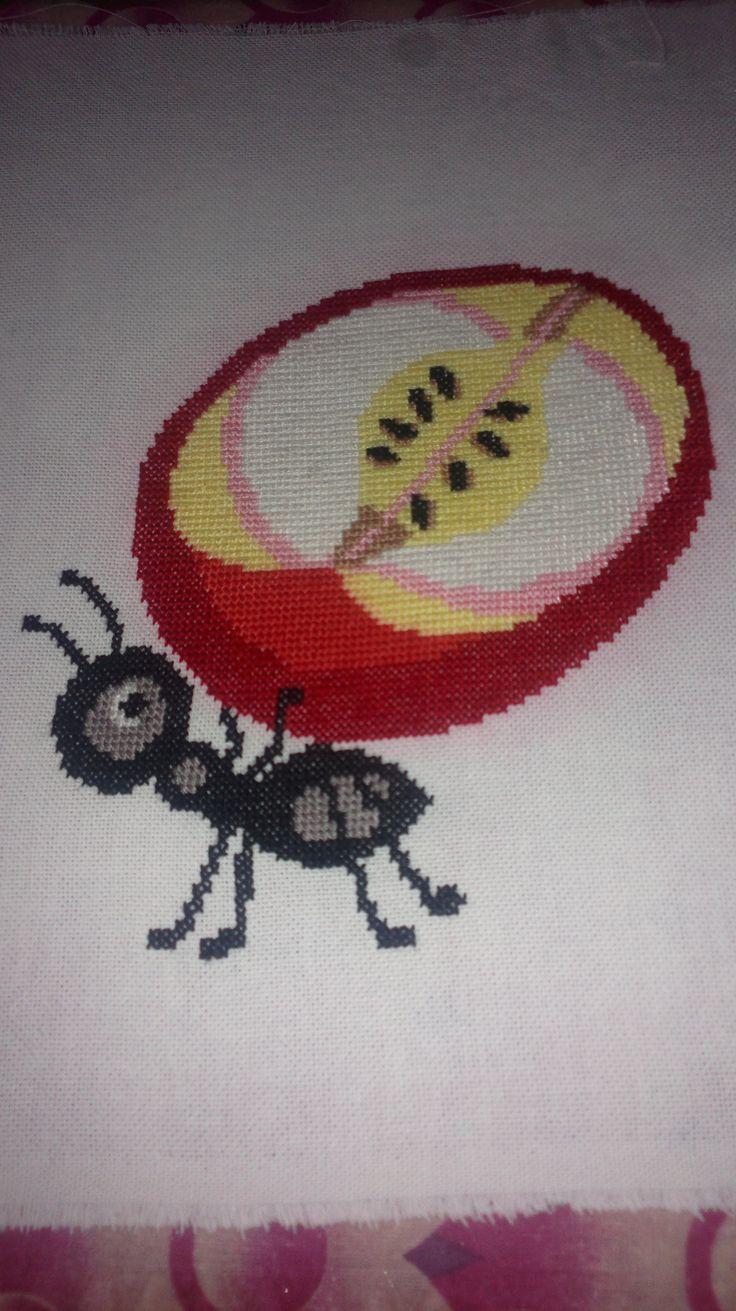 mraveneček a jablko