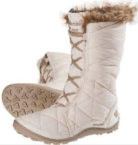 New Columbia womens waterproof insulated winter white snow boots Minx Mid NIB #Columbia #SnowWinter