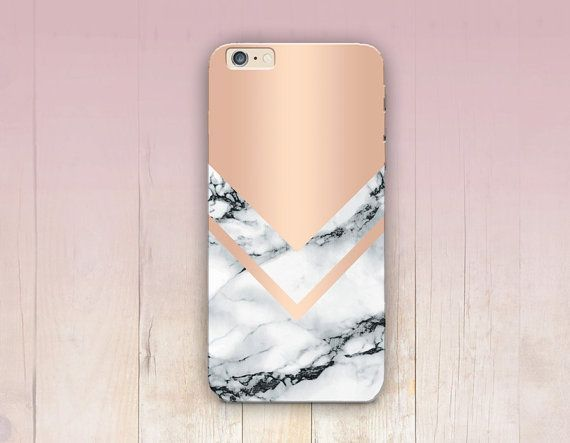 Rose Gold Marble Print Phone Case iPhone 6 Case di CRCases
