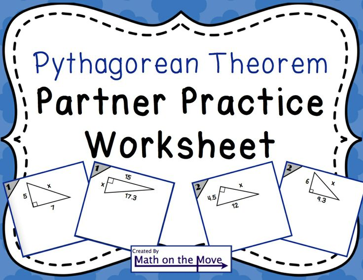 98 Best Pythagorean Theorem Images On Pinterest | Pythagorean