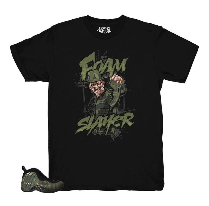 Foamposite Legion Green Shirt - Foam Slayer - Black