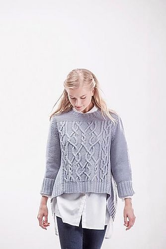 Ravelry: Sourcebook Flared Pullover pattern by Norah Gaughan