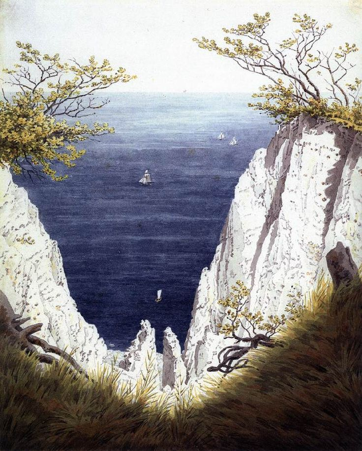 Chalk Cliffs at Rügen, 1825-26 by Caspar David Friedrich