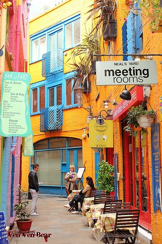 neal's yard, covent garden, london. I don't remember this in Covent Garden, but CG is my favorite spot in London ;)