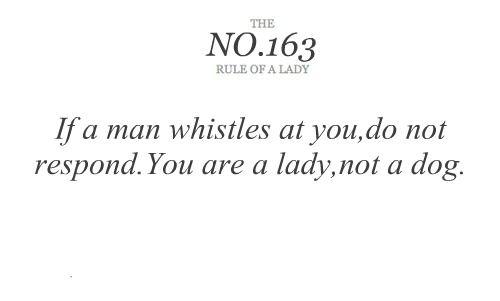 Be a lady<3