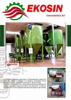 EKOSIN meccanica  IMPIANTI PELLET,  COMPOSTAGGIO, PNEUMATICI FUORI USO,  RICICLAGGIO PLASTICA      : EKOSIN meccanica  MISCELATORI VERTICALI+SILOS MISC...
