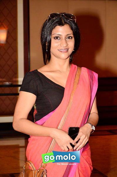 Konkona Sen Sharma at the Book launch of Vishal Bhardwaj's 3 films 'Haider, Maqbool & Omkara' at Hotel Taj Lands End in Mumbai