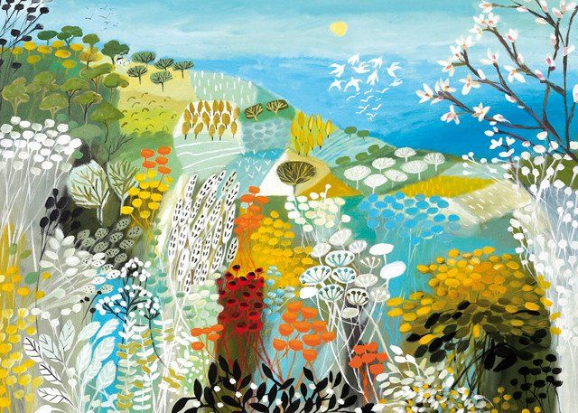 'Magnolia Coast' by Painter Natalie Rymer. Blank Art Cards By Green Pebble. www.greenpebble.co.uk