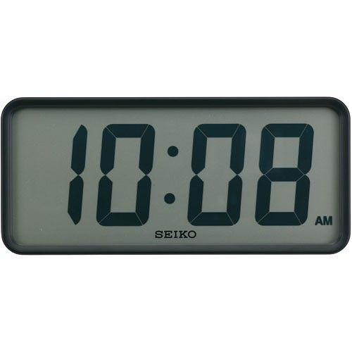 SEIKO セイコー power design project スタンダード デジタルクロック 電波掛置時計 ブラック SQ415K