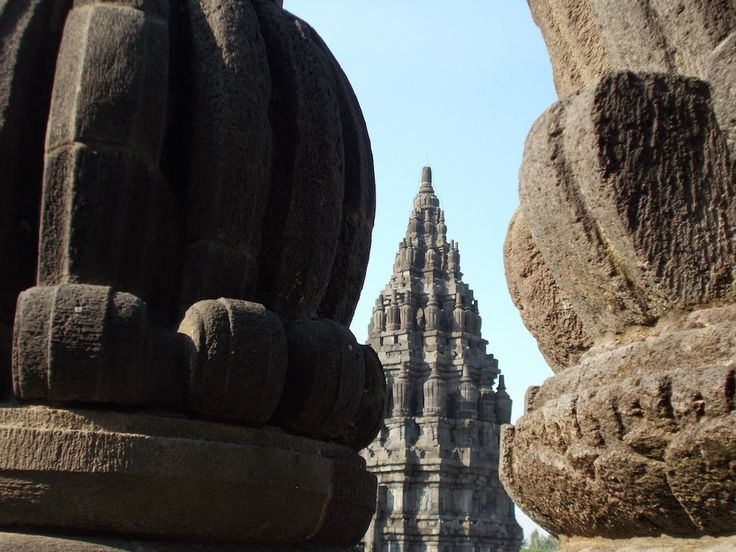 One of some main temples of Prambanan Temple Complex, Sleman, Yogyakarta, behind the ornaments.
