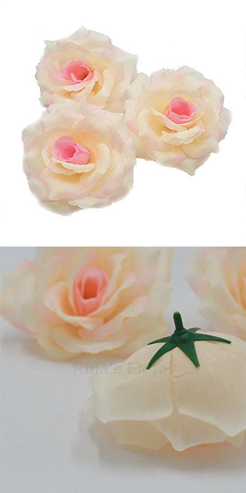 Silk Flowers Wholesale 100 Artificial Silk Rose Heads Bulk Flowers