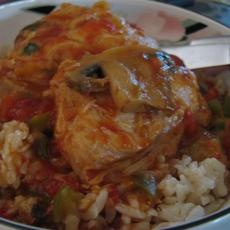 many pressure cooker recipes (this  one is chicken cacciatore)