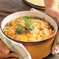 Chicken and Corn Chilaquiles Casserole.