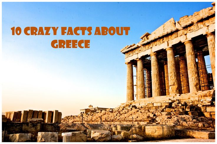 Since we love exploring as much as you do, here is the next interesting list we made for you: 10 Crazy Facts about Greece. Maybe you want to go there for a holiday, or you're interested in knowing more about this beautiful country. This is the place where democracy was born, a place with great