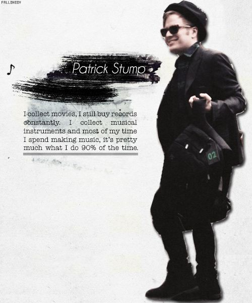 patrick stump quotes | 1k patrick fob fall out boy e Patrick Stump