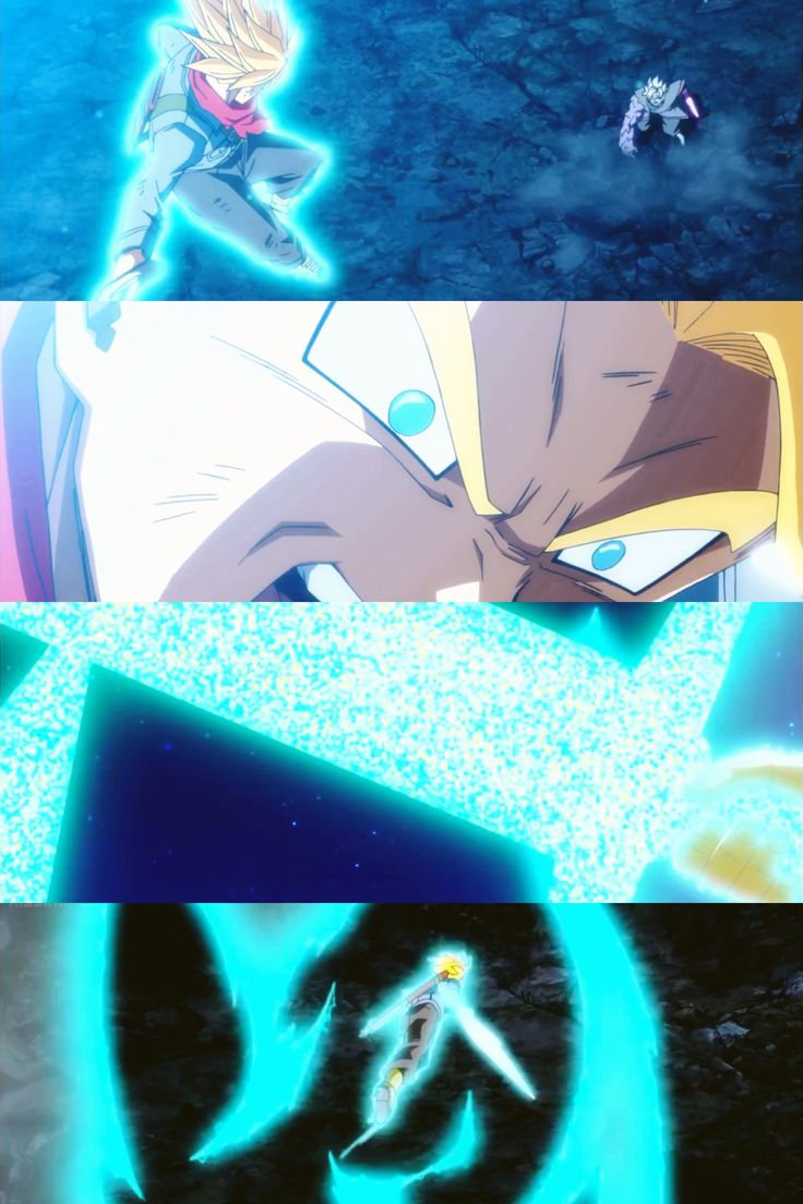 Trunks Vs Zamasu Dragon Ball Super Episode 66! Screenshot collage with Moldiv App fit perfect on plus sized phones. 2