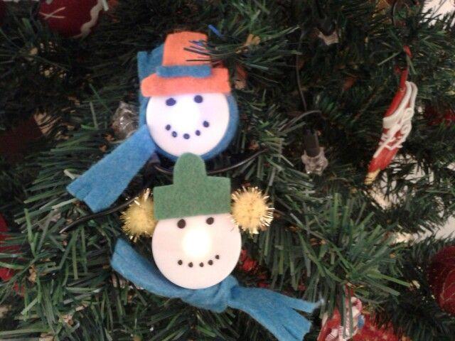tea lights xmas ornaments