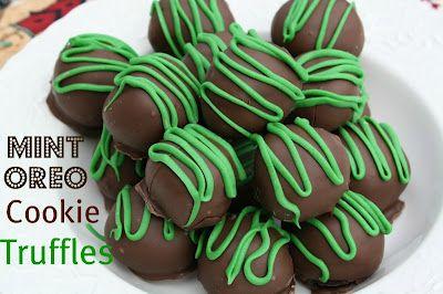 Tori, here you go!: Mommy Kitchens, Recipes, Oreo Cookie Truffles, St. Patrick'S Day, Yum, Oreo Truffles, Oreo Cookies Truffles, St Patrick'S Day, Mint Oreo