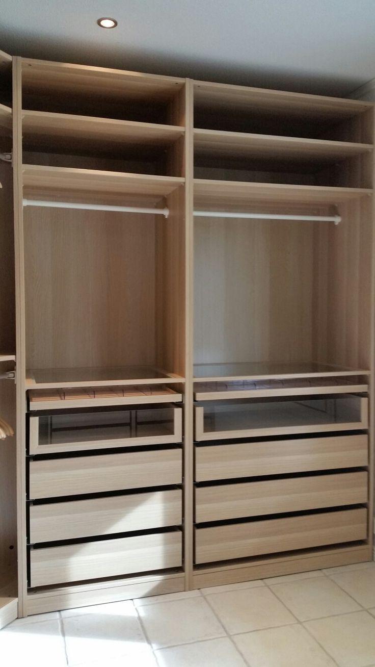 My Ikea Pax White Oak Walk In Closet Bedroom Cupboard