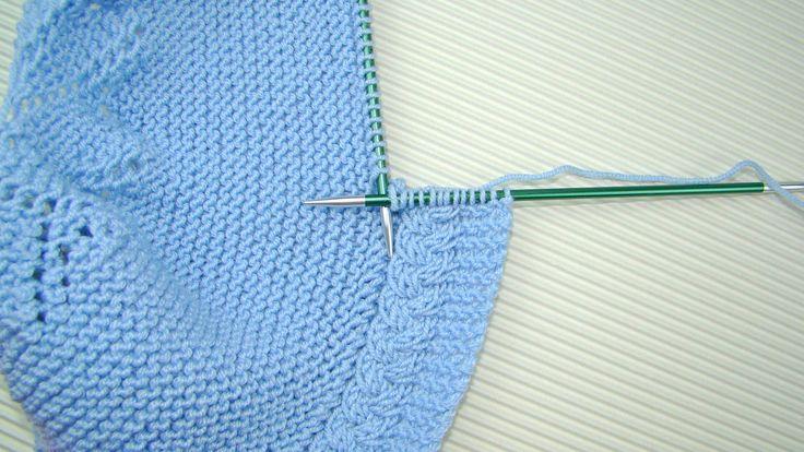 tutorial de capota de bebé con video e instrucciones tejido a dos agujas en puntomoderno.com #diy