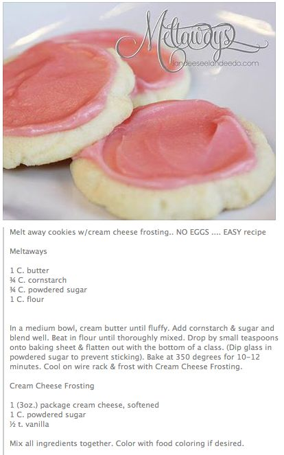 Melt~Away Cookies with Cream Cheese Frosting...