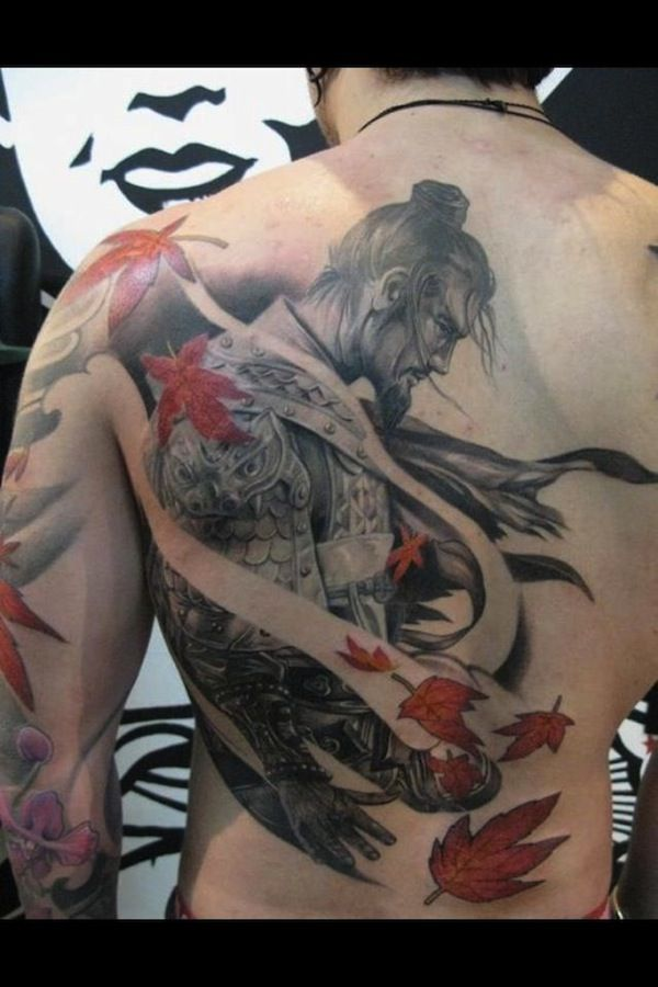 Samurai in the fall #TattooModels #tattoo