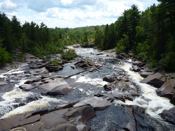 High falls in onaping, on of greater sudbury small towns.