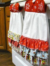 Best 25 christmas towels ideas on pinterest diy christmas ruffled hanging dish towel solutioingenieria Image collections