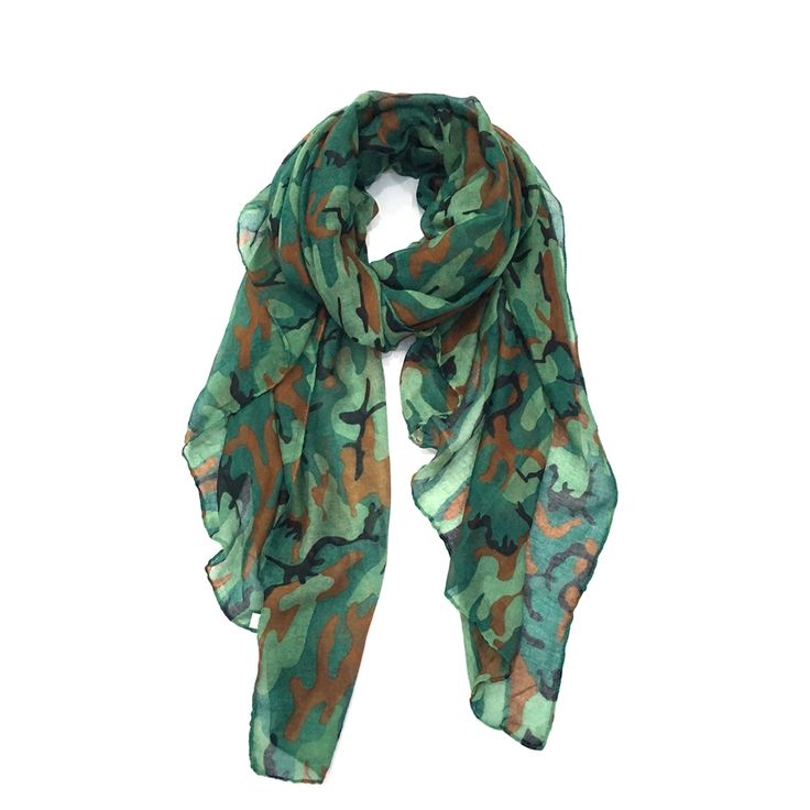 Staiwalks New Arrival Fashion Army Military Scarf With Camouflage Print Soft Polyester Cool Pattern Design