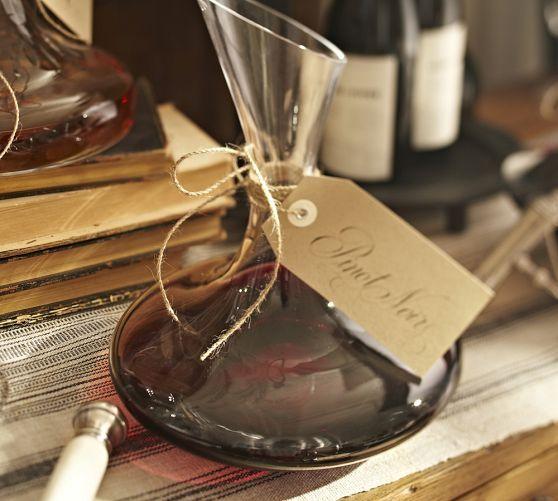 Vino Wine Decanter   Pottery Barn