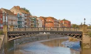 River Parrett at Bridgwater town bridge