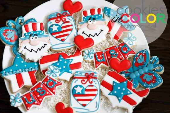 4th of July Cookies   Cookies in Color   Shannon Tidwell