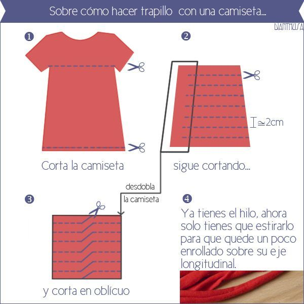 17 best images about ganchillo on pinterest fabric yarn - Como hacer trapillo ...