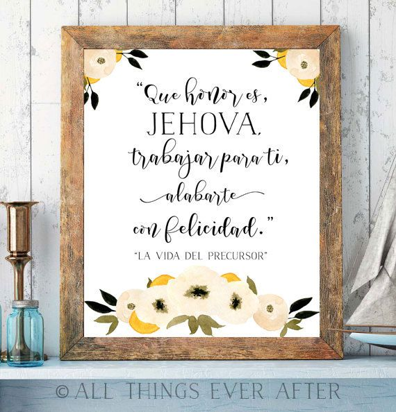 La vida del precursor | Song 140 | SPANISH | SKE Graduation Gift | JW | Print | New Songs | Printable | Wall Art | 0077 by AllThingsEverAfter on Etsy