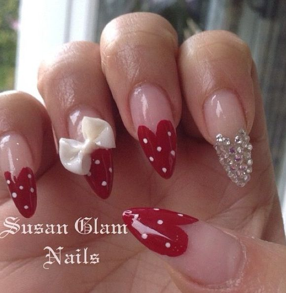 Nail art. Stiletto nails.