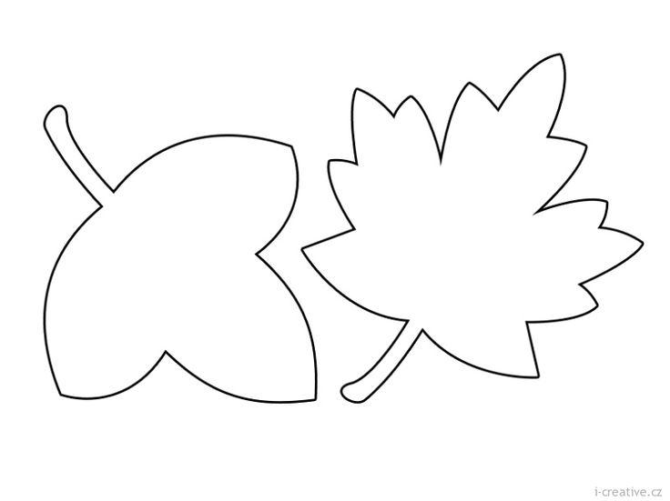 Podzimní listí omalovánky | i-creative.cz - Kreativní online magazín a…