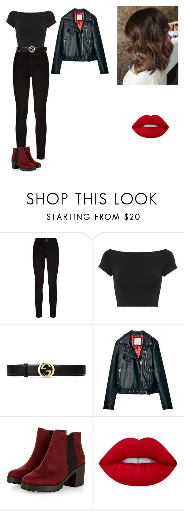 """""""Halloween"""" by idatherese04 on Polyvore featuring beauty, Paige Denim, Helmut Lang, Gucci and Lime Crime"""