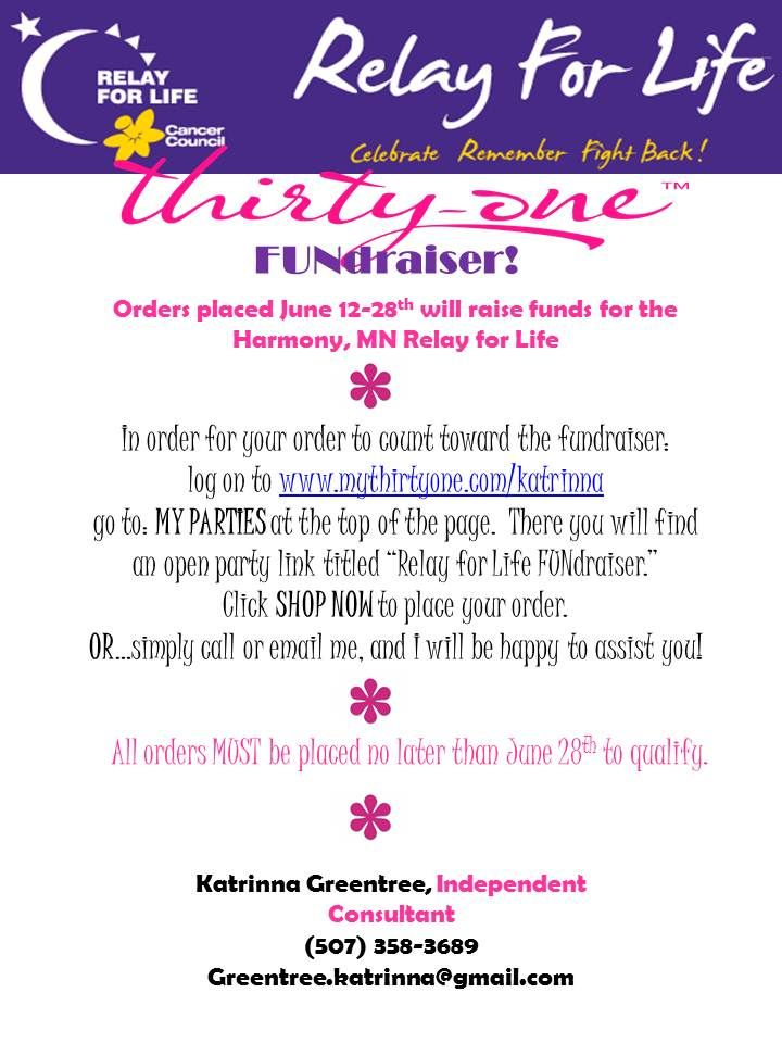 17 best images about thirtyone fundraisers on pinterest for Relay for life flyer template