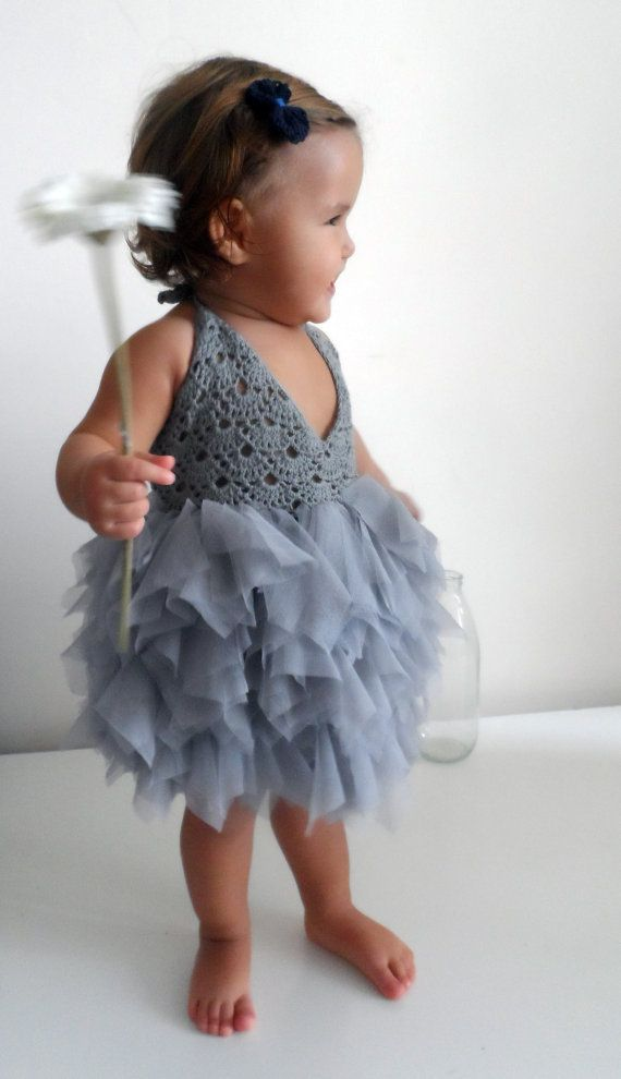 Baby Tulle Dress with Lace Stretch Crochet Bodice Baby