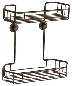 Double Shower Caddy, Oil-Rubbed Bronze contemporary-shower-caddies