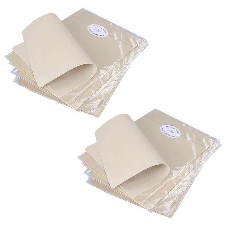10 Pack Felji Premium Blank Tattoo Practice Skin 8x6 Inches for Needle Machine Supply Dual Side