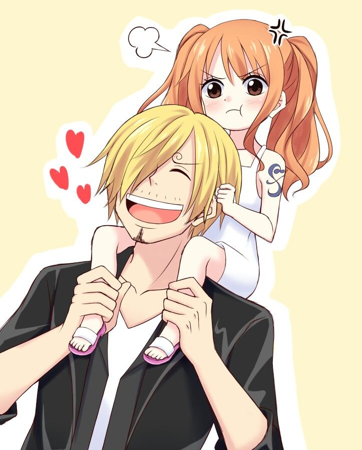 Sanji x little nami | Sanji x Nami •Blue x Orange ... | 723 x 897 jpeg 87kB