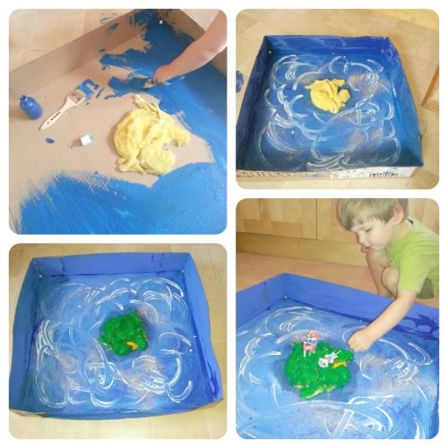pirate craft Zeke & I could make together...cut bottom out of old plastic pool to use instead of cardboard?