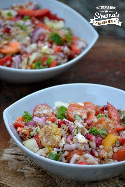 Reteta culinara Salata vegana cu hrisca si legume din categoria Salate. Cum sa faci Salata vegana cu hrisca si legume