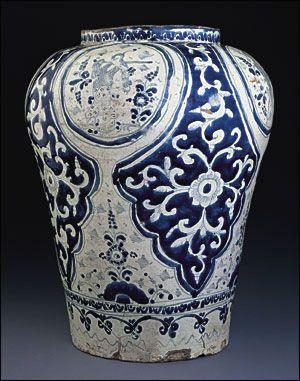 Puebla, Mexico, early eighteenth  century. Tin-glazed earthenware.