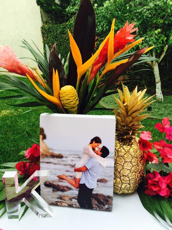 wedding shower centerpieces beach theme%0A Tropical Bridal Shower